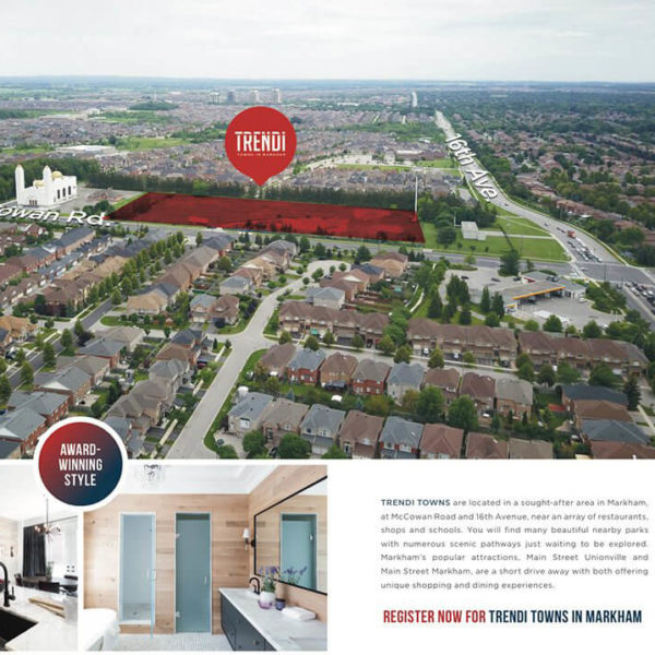 Trendi townhomes markham freehold sales event