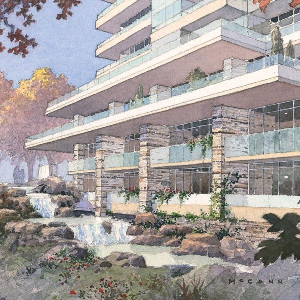 The Ravine Condo Waterfall Rendering