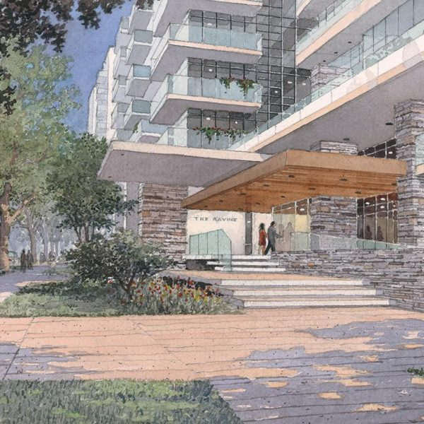 The Ravine Condo Entrance Rendering