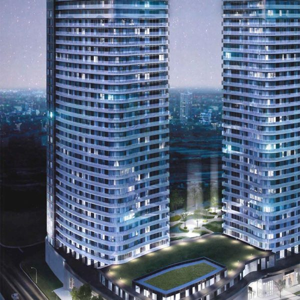 Cosmos Condos Towers Night Render