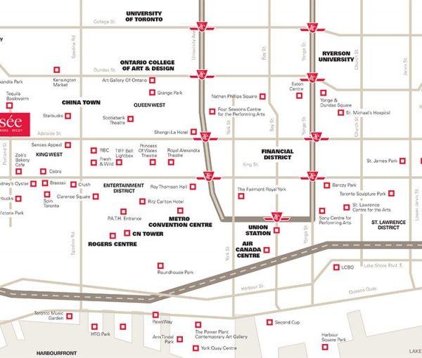 Musee Condo's Area Map