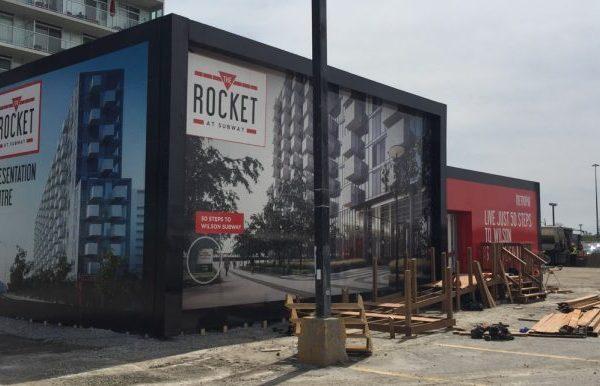 The Rocket at Subway Sign