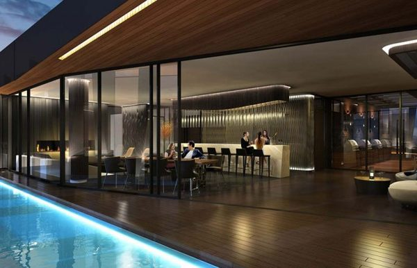 1 Yorkville's communal bar and kitchen