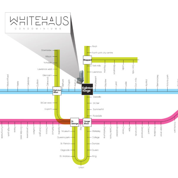 Whitehaus Subway Access Map LRT