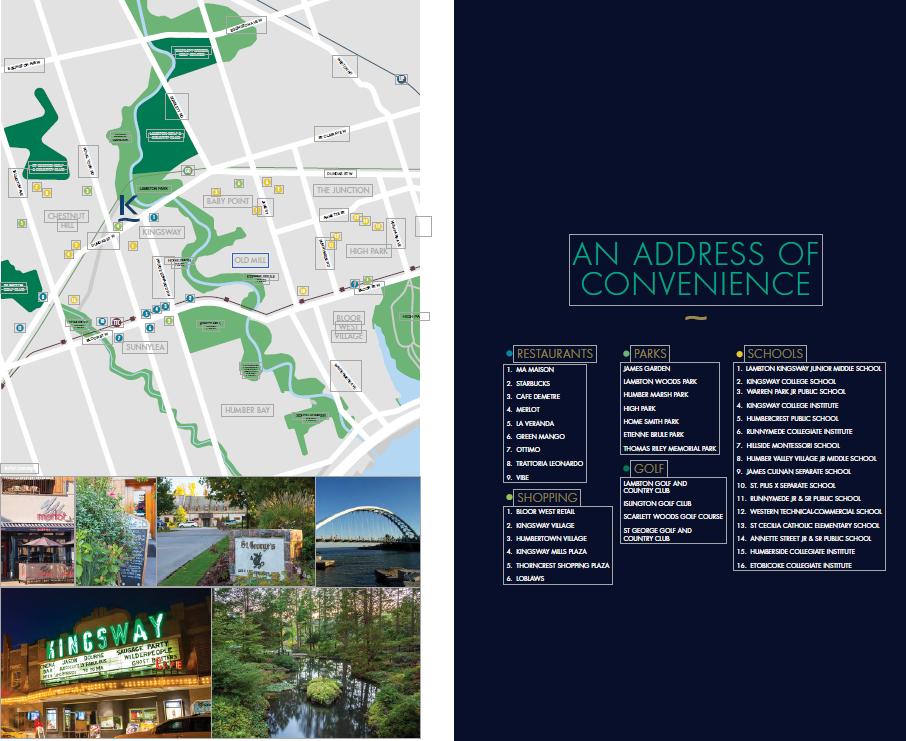 k kingsway condos sale brochure neighbourhoods