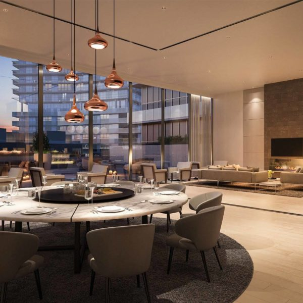 kitchen open concept rendering humber river