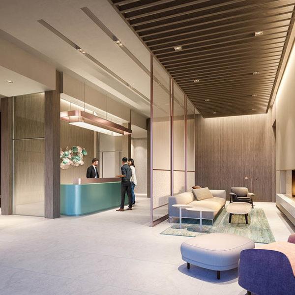 building lobby interior details