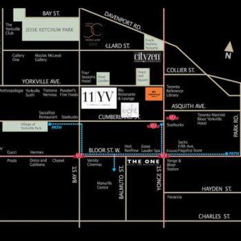 11 Yorkville Street Map