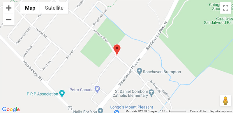 Montvert condos Brampton map