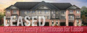 Gorgeous Luxury Townhouse with Basement for Lease in Cambridge Ontario LEASED